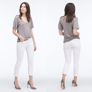 Adriano Goldschmied White The Stilt Roll-Up Jeans